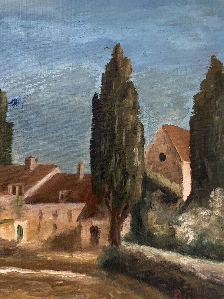 SIGNED FRENCH POST-IMPRESSIONIST OIL - PROVENCAL LANDSCAPE - Post-Impressionist Painting by Fernand Audet