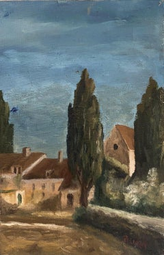 SIGNED FRENCH POST-IMPRESSIONIST OIL - PROVENCAL LANDSCAPE
