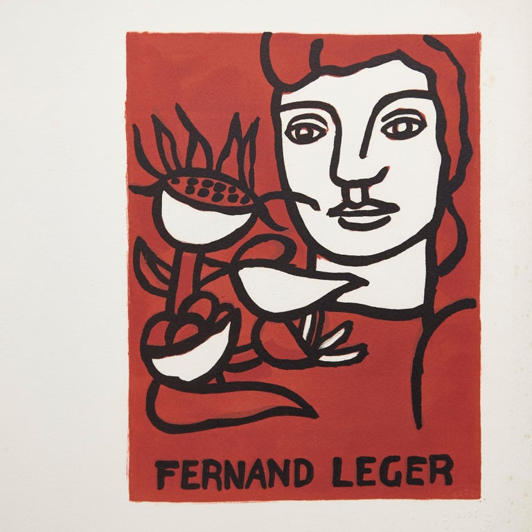 Lithographie Fernand Léger and poem André Verdet made in France in 1980
