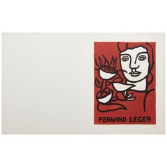 Fernand Leger and Poem Andre Verdet Numered and Signed Lithography