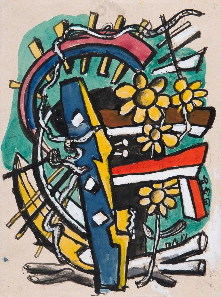 Fernand Léger Still-Life - Objets brisés et fleurs