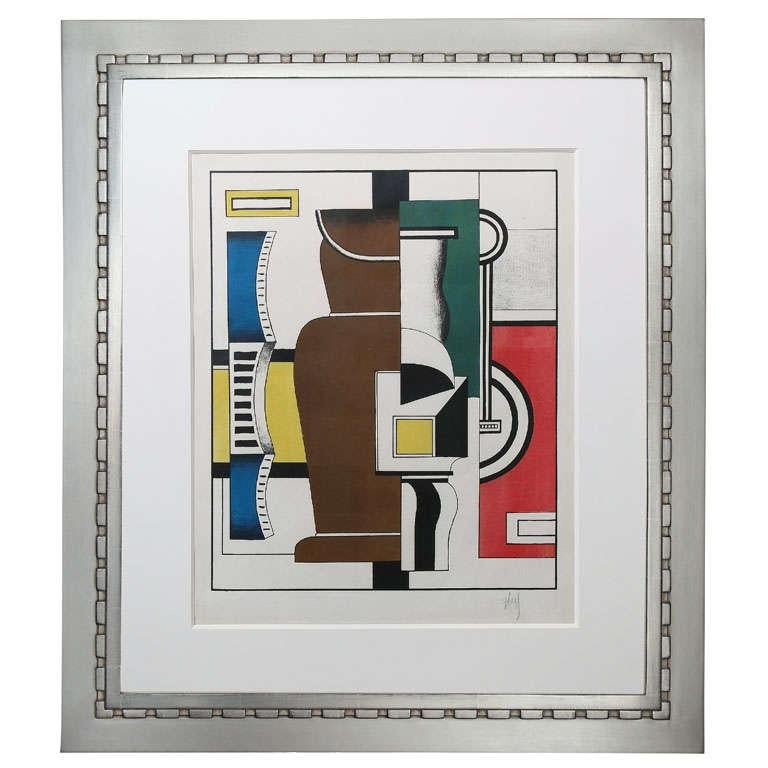 Fernand Léger 'Le Vase' Lithograph in Colors In Excellent Condition For Sale In New York, NY