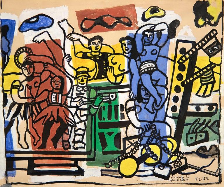 <i>Étude pour</i> La grande parade, 1952, by Fernand Léger