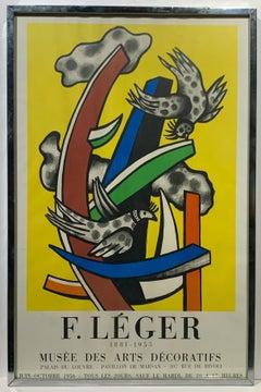 1956 Fernand Leger Mourlot Exhibition Poster