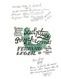 Composition - Original Lithograph After Fernand Leger - 1982
