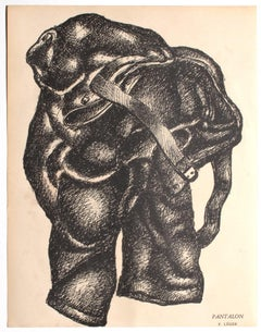 Composition - Original Lithograph on Paper by Fernand Léger - 1925