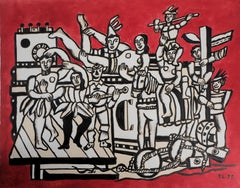 Happy People : The Parade - Lithograph and Stencil, 1959