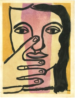 Head of Woman - Lithograph afte F. Léger - 1949