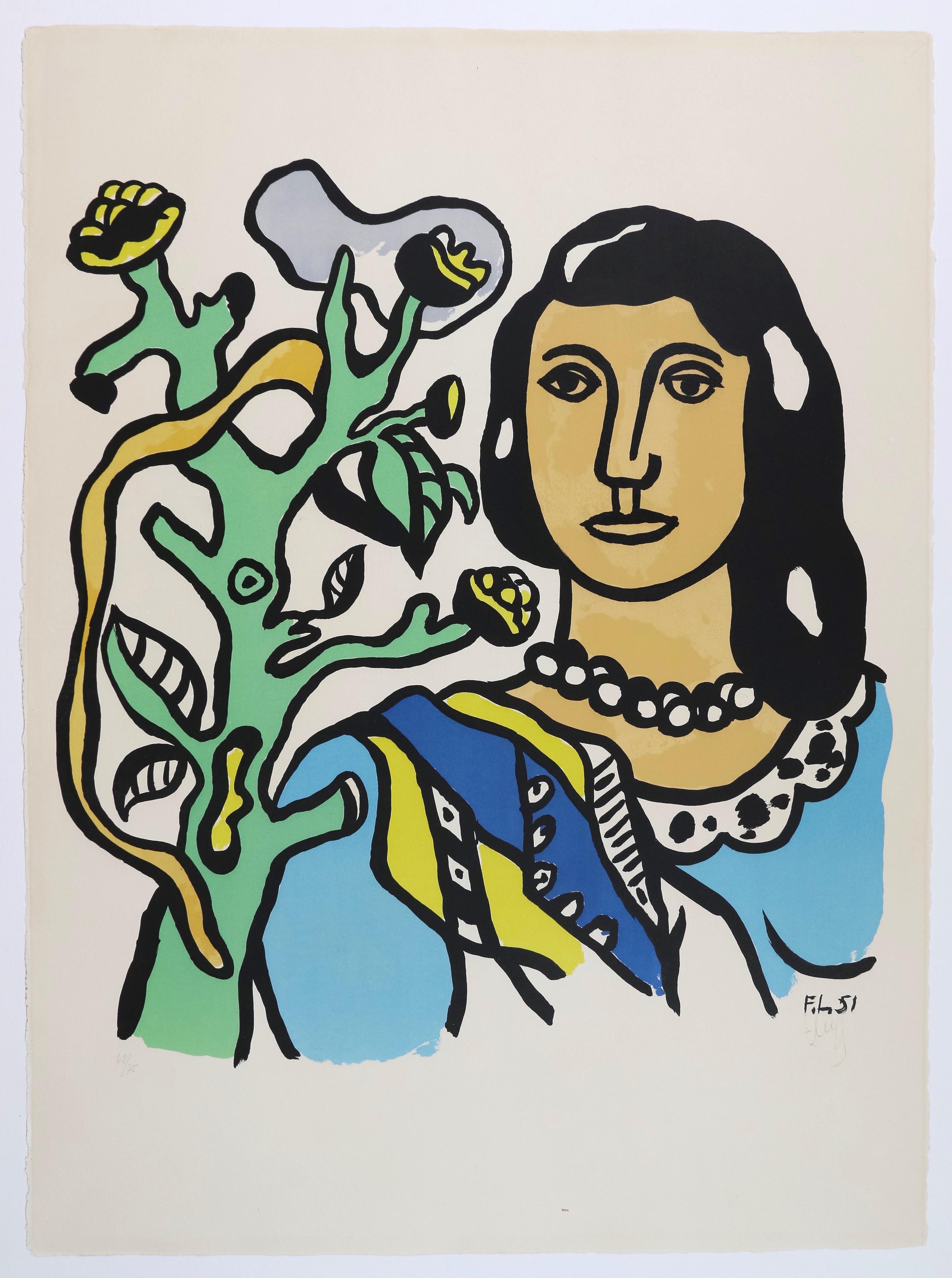 La femme et la fleur