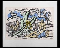 La Partie de Campagne - Original Lithograph by Fernand Leger - Mid 20th Century