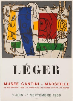 Musée Cantini by Fernand Leger lithographic poster