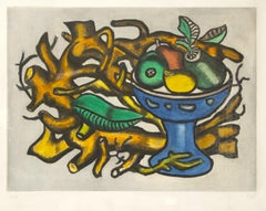 Nature morte à la Coupe de Fruit - Original Lithograph by F. Léger - 1950s