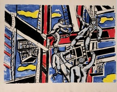 The Builders - Lithograph and Stencil, 1959