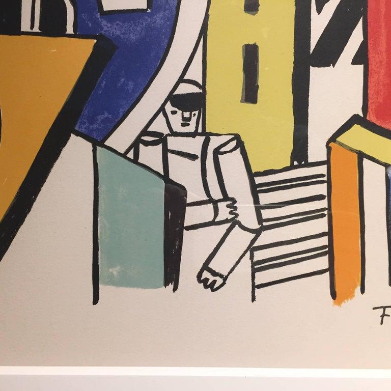 Mid-Century Modern Fernand Léger ''L'Homme dans la Ville'', 1959 For Sale