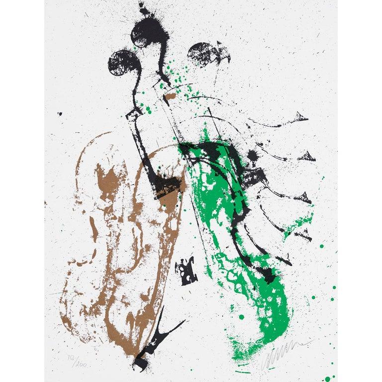 Accords à cordes II  - Print by Fernandez Arman