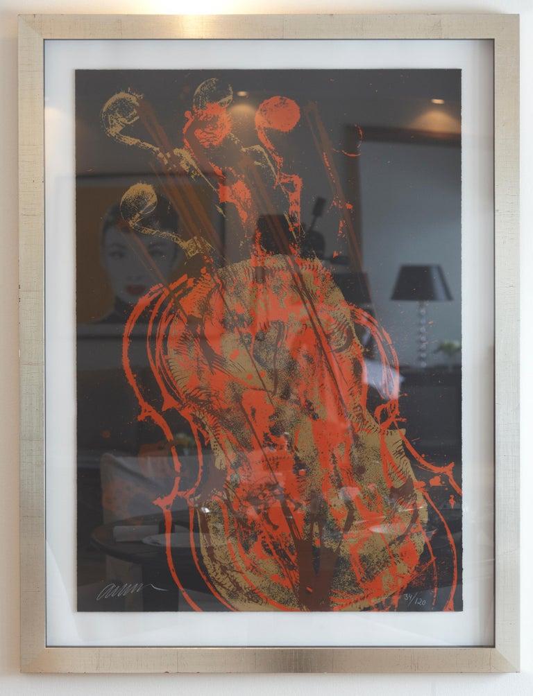 Melody for Strings 1 - Contemporary Print by Fernandez Arman