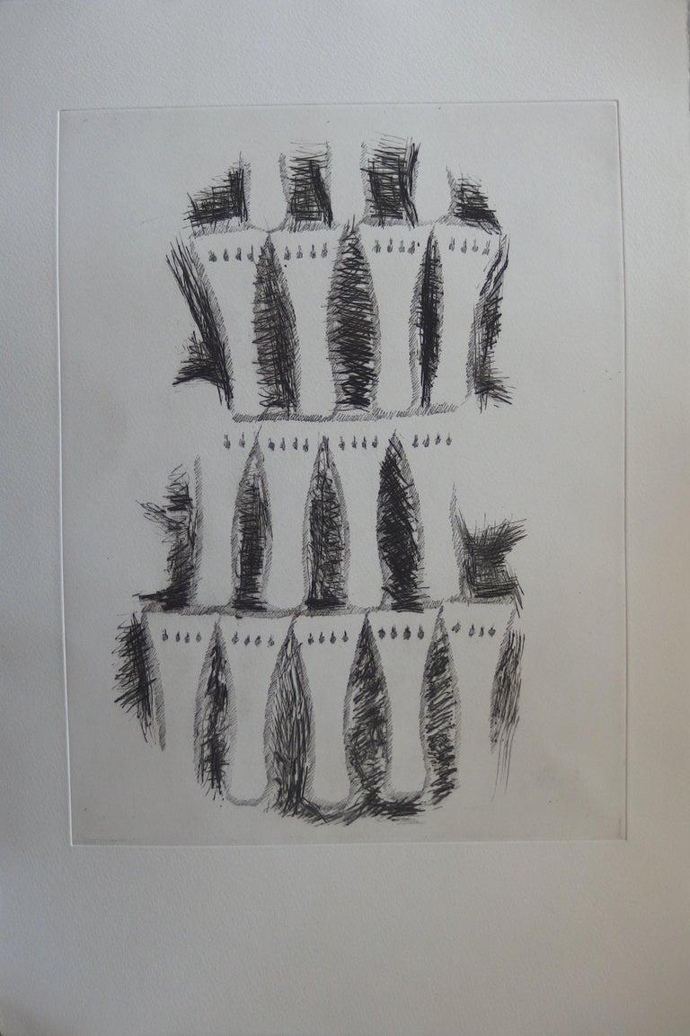 Set of 7 Original etchings - 1979 - Realist Print by Fernandez Arman