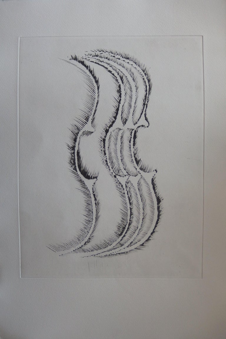 ARMAN Fernandez Set of 7 etchings (see pictures)  Original Drypoint etching On Arches vellum 23 x 15