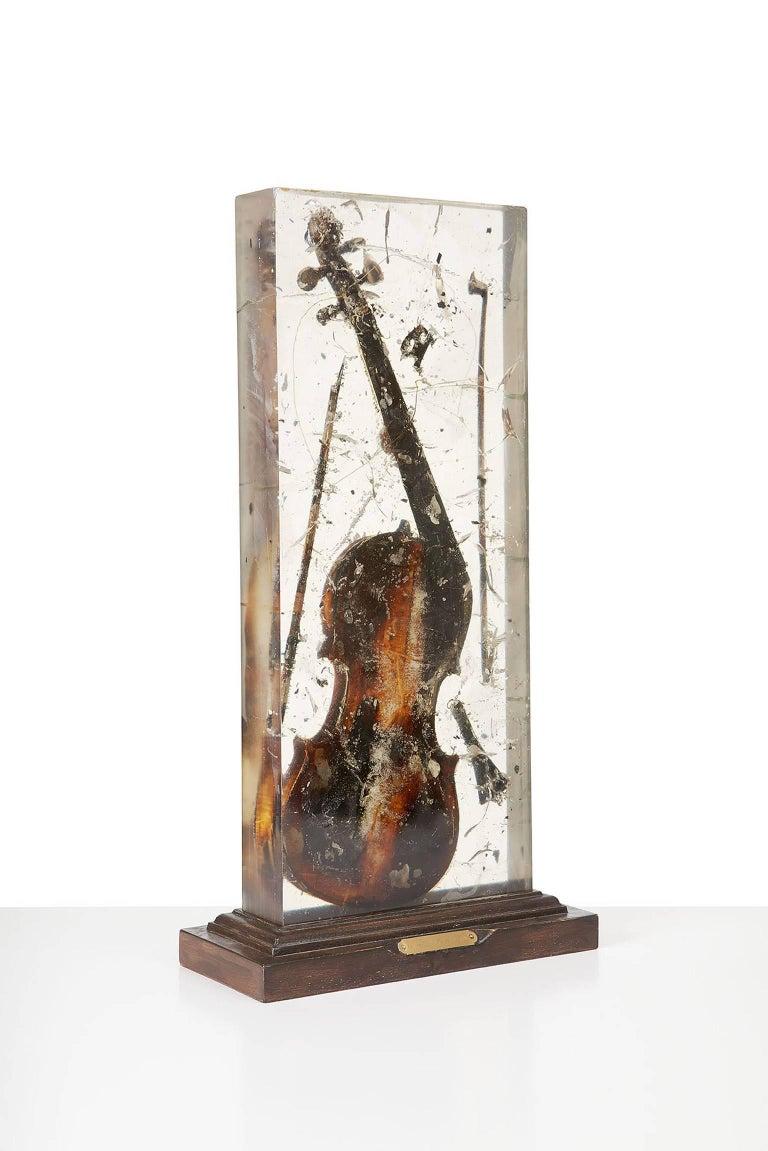 Colère de Violon  - Contemporary Sculpture by Fernandez Arman