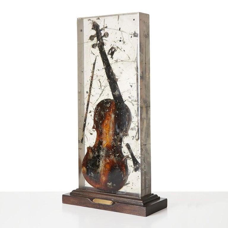 Fernandez Arman Figurative Sculpture - Colère de Violon