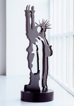 Le fantome de la liberte - Statue of Liberty, Contemporary, Iron, Sculpture