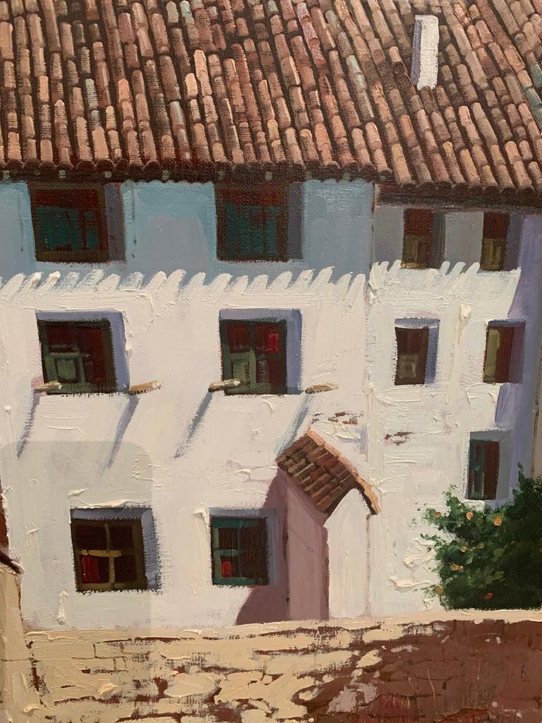 Views of Spain - Black Landscape Painting by Fernando Alcaraz