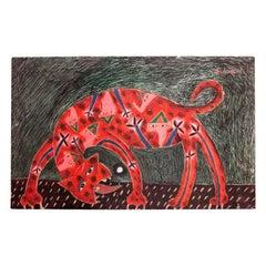 "Fernando Andriacci ""El Gato"" Original Painting 21st Century"