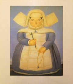 """Fernando Botero - """"Mother Superior"""" - color offset lithography"""