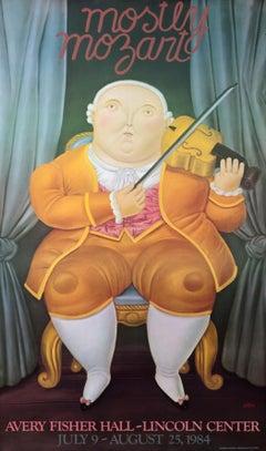 """""""Mostly Mozart"""" Original Vintage Music Festival poster"""