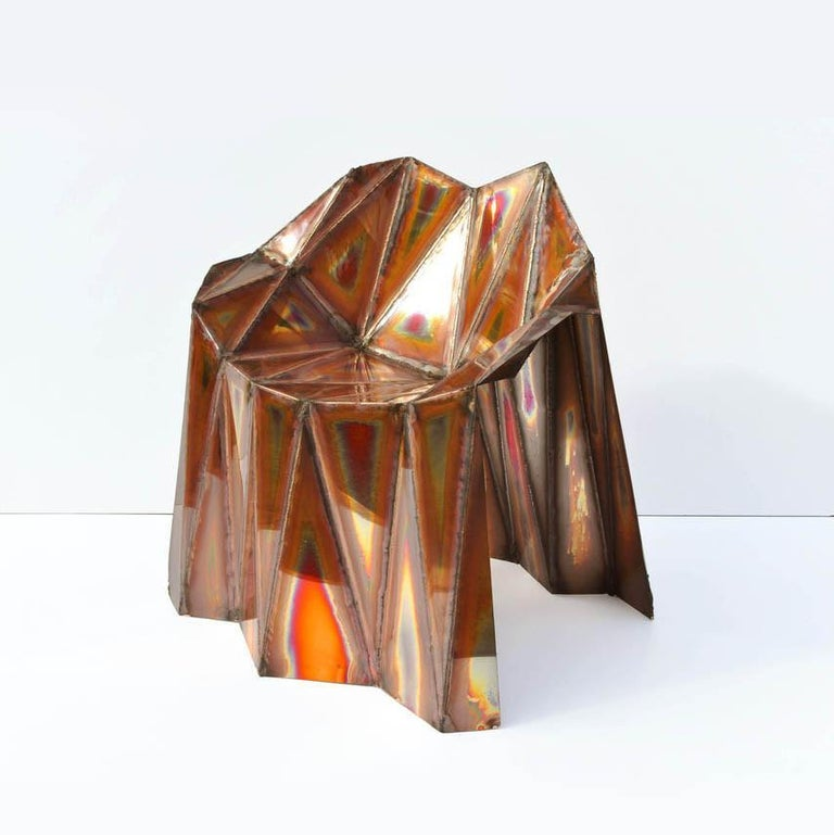 Modern Fernando Copper Chair by Julian Mayor For Sale