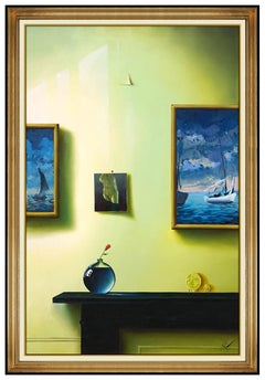 Fernando Oliviera FERJO Original Oil Painting On Canvas Large Signed Interior