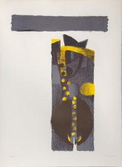 Abstract Lithograph by Fernando De Szyszlo 1970