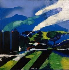 """""""Landscape"""" Oil cm. 65 x 65 197a"""