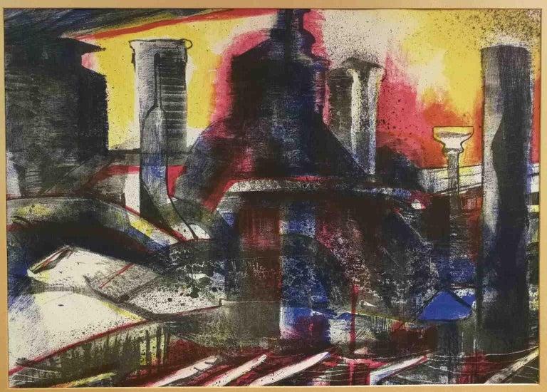 Signed F Farulli Lithograph 20th century - Print by Fernando FARULLI