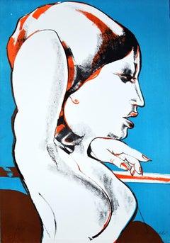 The Diva - Original Lithograph by Fernando Farulli - 1970s