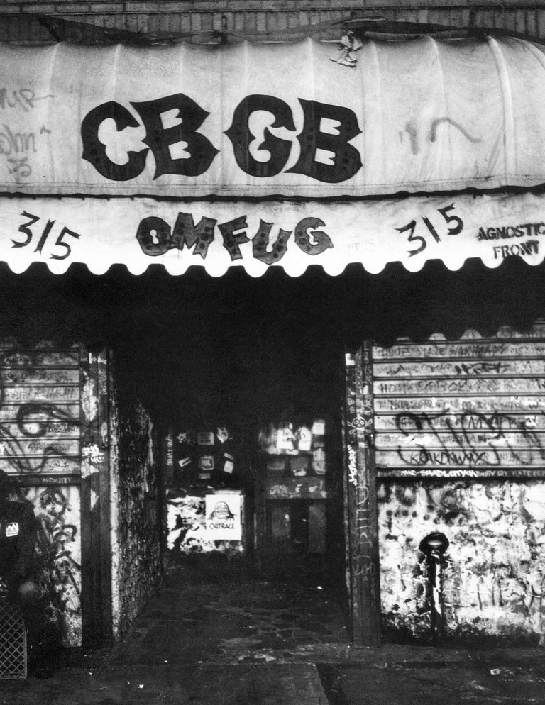 CBGB, The Birthplace of Punk - captured by heralded New York underground photographer Fernando Natalici: Manhattan, c.1982  Archival Inkjet Print Dimensions: 11 x 14 inches Hand signed, dated & numbered from an edition of 50 Obtained directly from