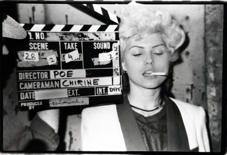 Fernando Natalici Black and White Photograph - Debbie Harry on the set of The Foreigner East Village, 1977 (Blondie)