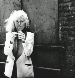 Debbie Harry on the set of The Foreigner East Village 1977 (Blondie photograph)
