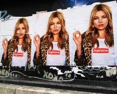 Kate Moss Supreme New York Street Art Photo (Kate Moss Fashion photography)