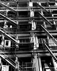 SoHo Fire Escapes Manhattan 1984 (Soho Manhattan photograph)