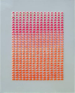 Carbon Sunrise (Modern Pink & Orange Miniature Play-Doh Automobile Grid)