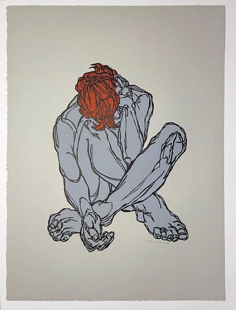 Sweet Dreams I - Gray Nude Print by Fernando Reyes