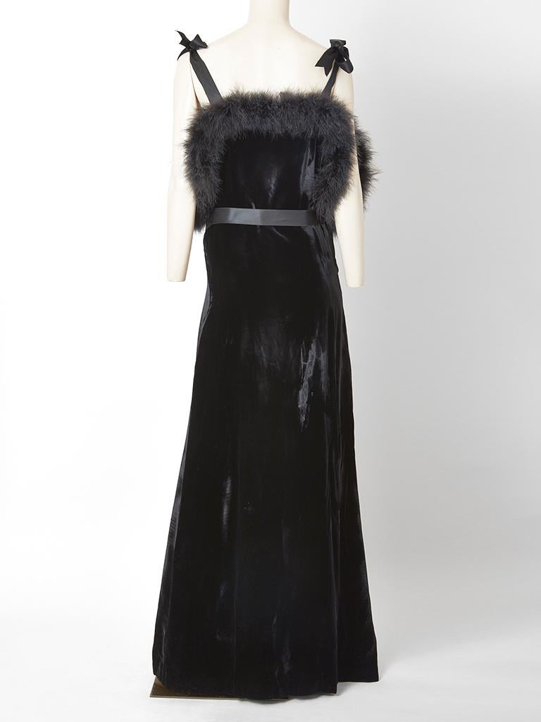 Fernando Sanchez Velvet Gown  In Good Condition For Sale In New York, NY