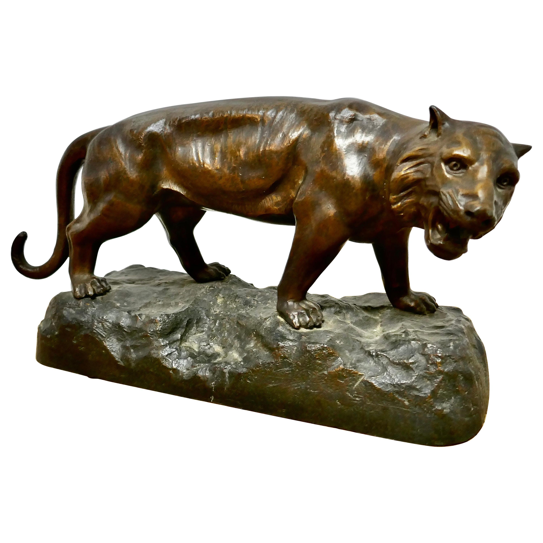 Ferocious Bronze Tiger Statue
