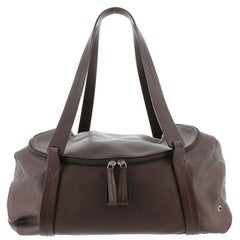 Ferragamo Brown Leather Duffle Bag