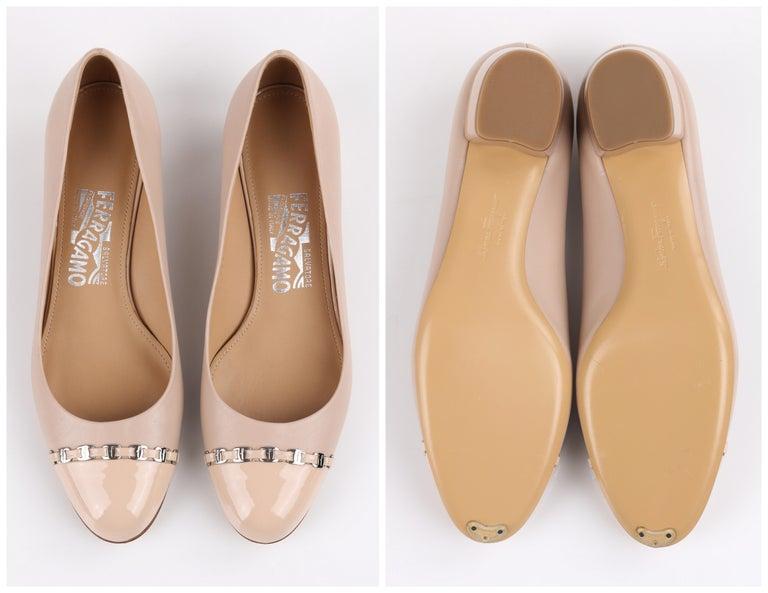 Salvatore Ferragamo Pumps Shoes, Brand New Vintage, Beige