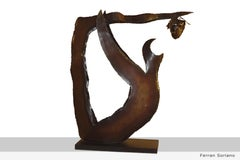 """ALEGRIA DE BACO""- original iron sculpture 2000"