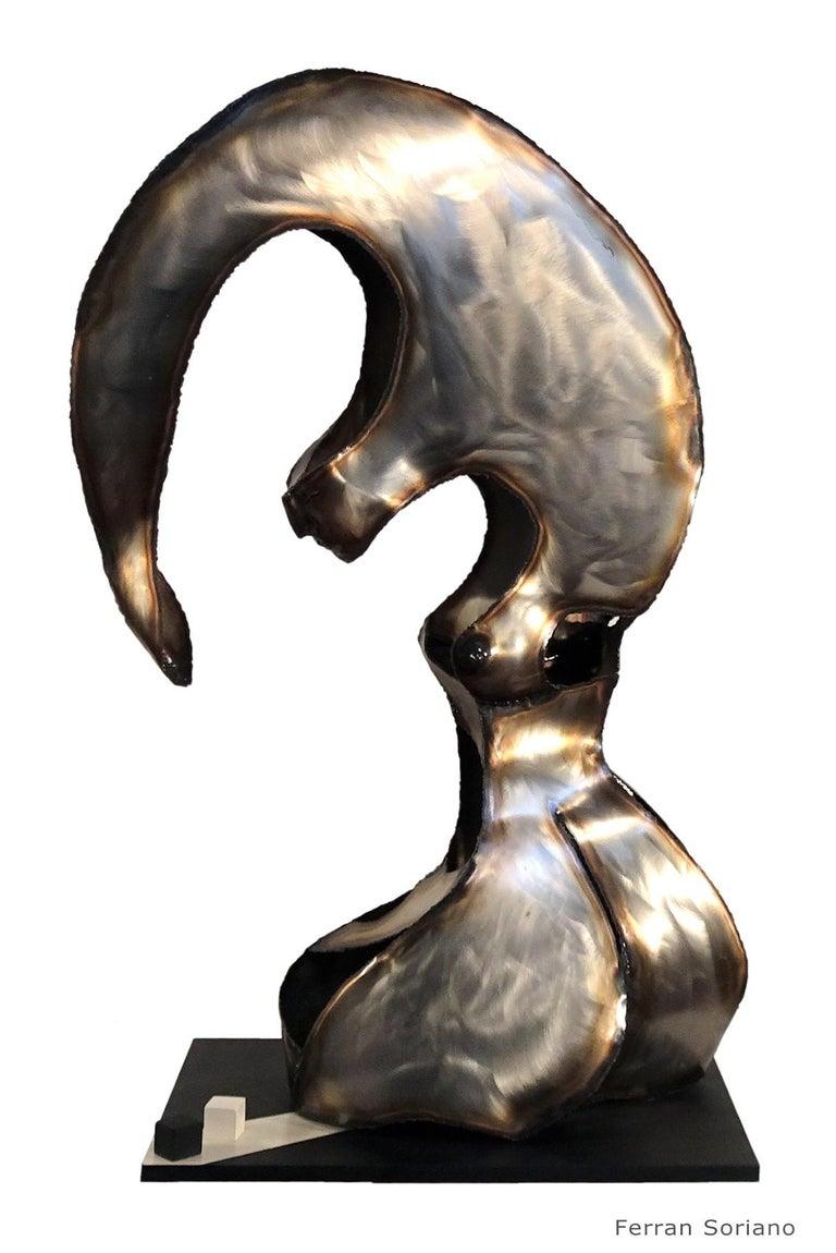 """Ferran Soriano Abstract Sculpture -  """"DAUS""""-original iron sculpture 2001"""