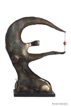 """""""EQUILIBRIO """"- original iron aluminium  sculpture  2005"""