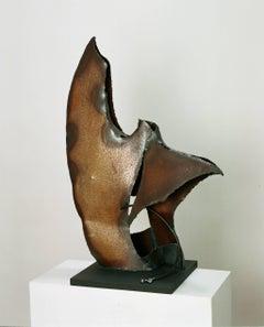"""Fugues""original  steel unic piece abstract sculpture"